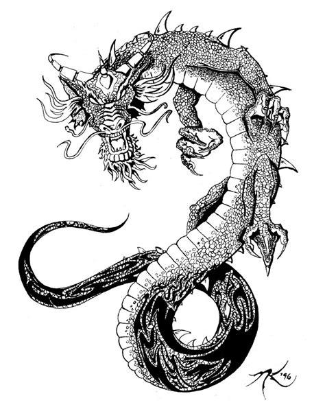dragon tattoo designs black and white black and white design