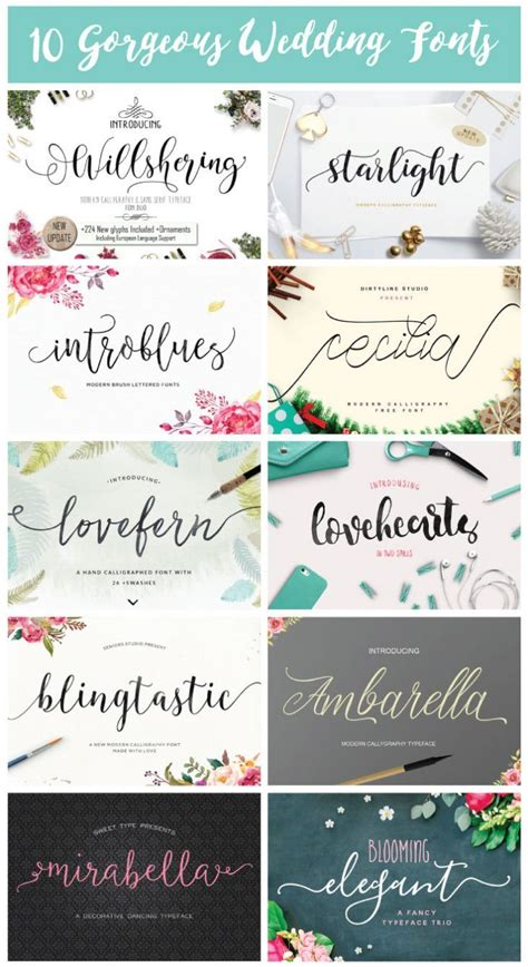 Wedding Font Ideas by 10 Gorgeous Wedding Fonts Fonts Weddings And Cricut