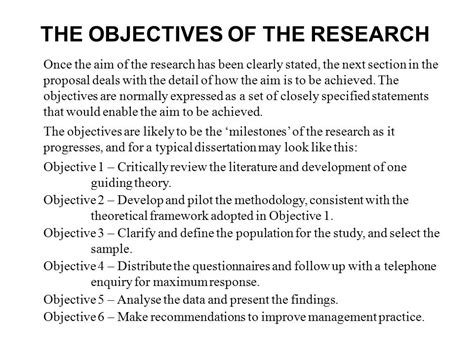 statement of objectives in research statement of the objective sle 28 images statement of