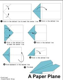 Origami Flying Plane - special interest area a variety of simple origami paper