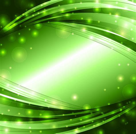 background vector green abstract green lights background vector free vector eps10