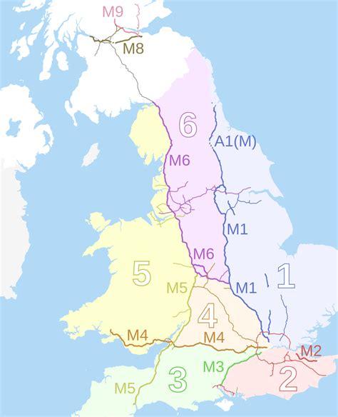 map uk motorways file motorway number zones in and wales map svg