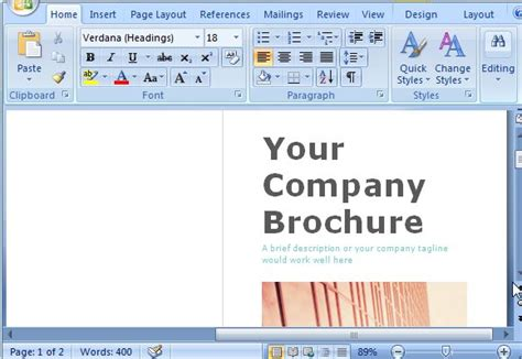 Microsoft Word Brochure Template Doliquid Microsoft Word Catalog Template