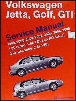 vw golf gti jetta 1999 thru 2005 automotive repair manual walmart com 1999 2005 vw jetta golf gti bentley repair shop manual