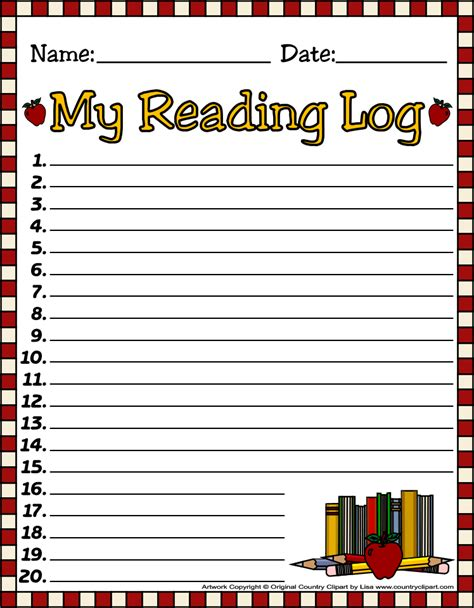 my reasing free printable reading logs for teachers and parents for
