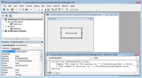 tutorial vba solidworks how to write vba code in autocad