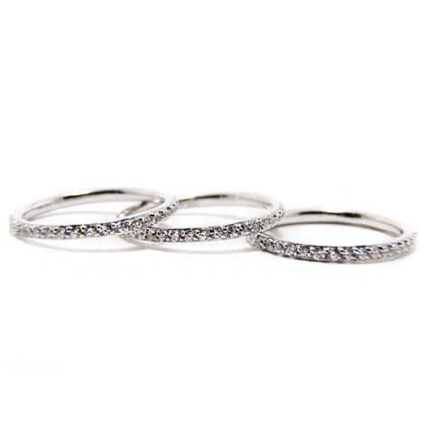 sterling silver cz stackable ring set sstr00513