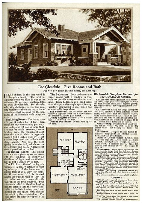 gordon van tine house plans 1925 gordon van tine glendale vintage house plans pinterest