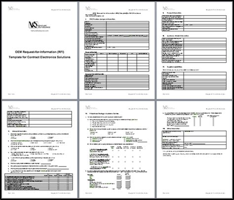 Documents Oem Rfp Rfi Form Presented To Ems Provider Ventureoutsource Com Rfq Template Manufacturing