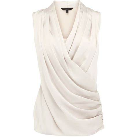 Baju Blus Blouse Dress Pesta Tank Top Halter Neck Korea Jepang Import 1 coast jemma satin draped top 60 liked on polyvore featuring tops shirts blouses blusas