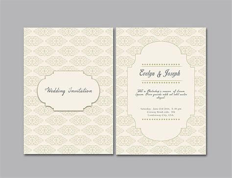 Simple Wedding Invitation Template Graphicloads Simple Wedding Card Template
