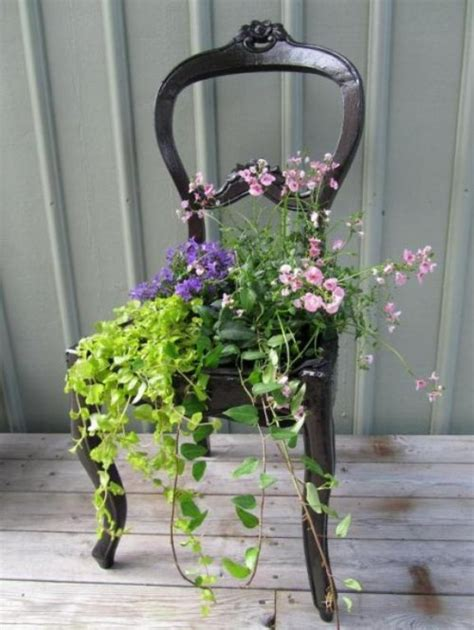 flower planter ideas chair diy planter idea my desired home