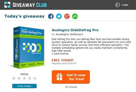 Auslogic Giveaway Club - free แจกฟร auslogic disk defrag pro 4 ใช งาน 1