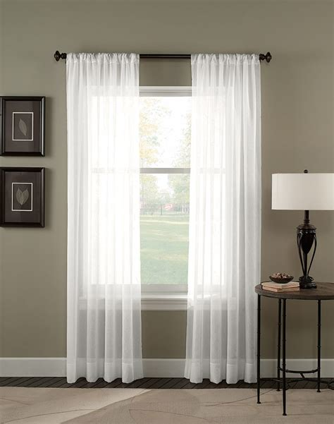 white window drapes trinity crinkle voile sheer long length curtain panel