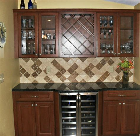 Wine Cabinet Kitchen by Kitchen Cabinets Installation Remodeling Company