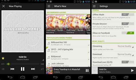 spotify app android spotify for android 4 0 impressions one of the best players on android digital trends