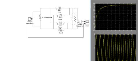 single phase diode bridge type rectifier file exchange matlab central