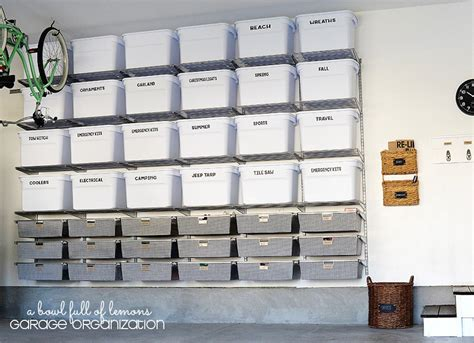 garage organization bins garage storage shelves 18 photos that prove home
