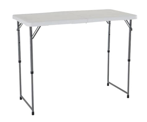 lifetime fold in half table lifetime adjustable height folding table 4428 48x24 fold