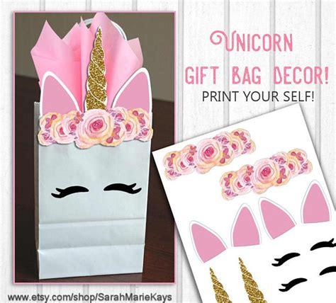 printable unicorn decorations printable unicorn gift bag decorations unicorn print outs