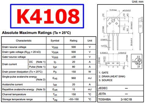 transistor w10nk80z k4108 datasheet vdss 500v n ch mosfet toshiba