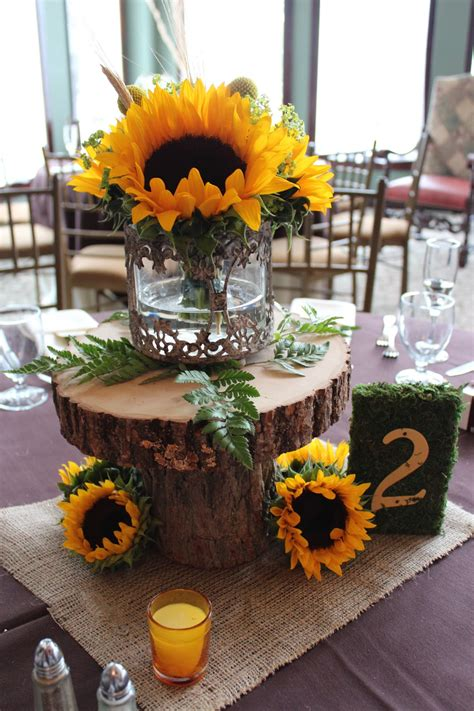 s garden kristin s fall sunflower wedding at running deer golf club