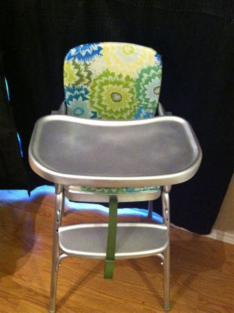 how to clean cosco high chair vintage cosco highchair makeover recovered the chair with