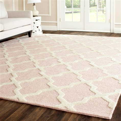 pastel rugs cambridge light pink ivory tufted wool rug laylagrayce rug pastel rugs