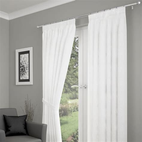 white lined voile curtains tonga crushed fully lined voile curtains white