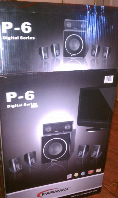 paramax p 6 surround sound home system