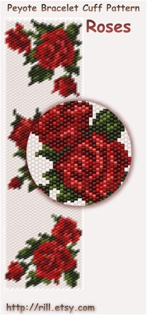 seed bead peyote patterns roses pattern peyote bracelet peyote cuff