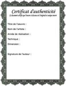 certificat d authenticit 233 2 atelier d art plastique