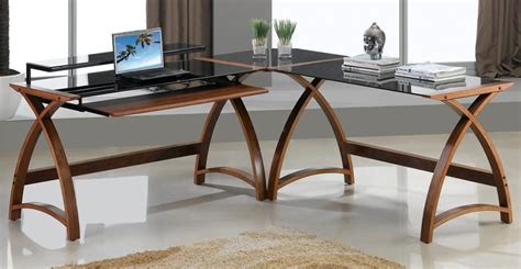 Jual Computer Desk Jual Pc201 Corner Walnut Black Desks