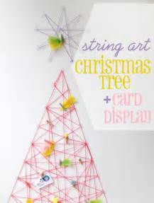 Diy Recycled Home Decor how to string art christmas tree amp card display my