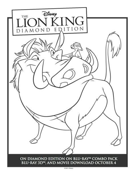 lion king timon coloring pages printable timon pumbaa lion king coloring sheet