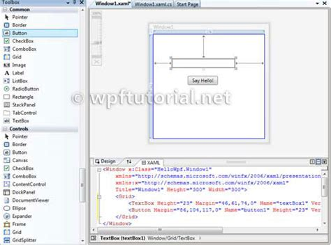 tutorial wpf web application wpf tutorial create a simple wpf application