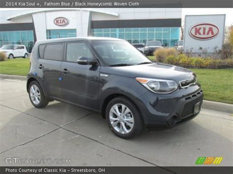 Blue Kia Soul 2014 Fathom Blue 2014 Kia Soul Black Honeycomb Woven