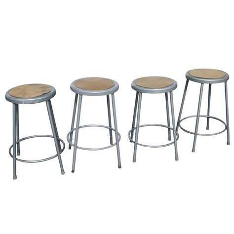 Metal Bar Stools Vintage by 1 Vintage Industrial Age Metal Bar Stool Ebay