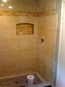 Shower Stall Designs Small Bathrooms Tiled Shower Stall Jpg 768 215 1024 Bathroom Tile Ideas Bathroom Tile Showers