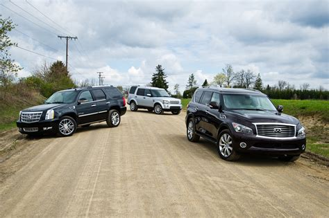 land rover lr3 vs lr4 comparison test land rover lr4 vs cadillac escalade vs