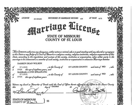 Missouri Marriage Records Search Ferguson Cop Darren Wilson Married Two Months After Brown
