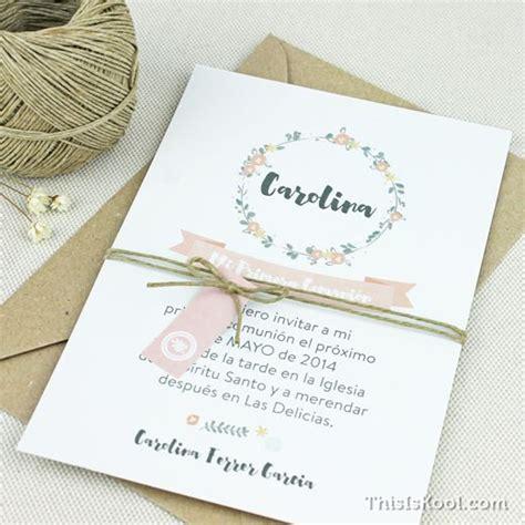 invitaciones primera comuni n tarjetas e invitaciones principales 25 ideas incre 237 bles sobre invitaciones