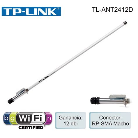 Tl Ant2412d X0009 2 4ghz 12dbi Outdoor Omni Antenna N tp link outdoor omni directional antenna 2 4ghz 12dbi tl