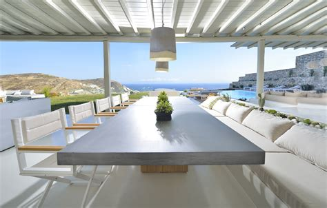 luxury mykonos villa  contemporary mediterranean decor