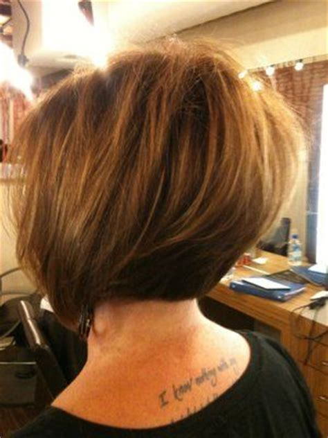 asymmetrical stacked bob stacked asymmetrical bob from back hair pinterest