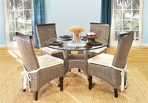 rattan dining room set abaco 5 pc dining room dining room sets