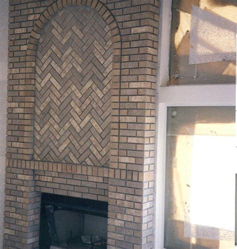 Herringbone Brick Fireplace by Un 312 Brick Fireplace Herringbone Walton Sons Masonry