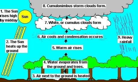 diagram of convectional rainfall convectional a diagram ctiscoolgeogblog