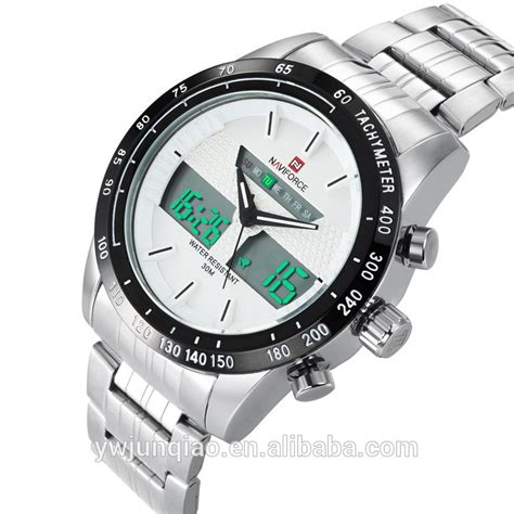 Naviforce Nf9059 Black White Original 2015 luxury brand stainless steel quartz wrist