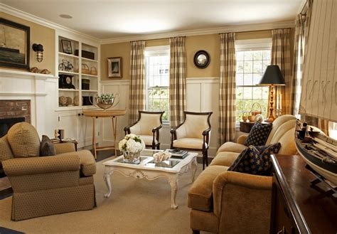 Traditional Living Room Curtains Sumptuous Buffalo Check Curtains In Living Room Traditional With Board And Batten Walls Next To